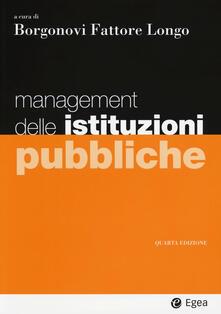 Management delle istituzioni pubbliche - copertina