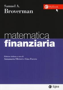 Mercatinidinataletorino.it Matematica finanziaria. Con Contenuto digitale per download e accesso on line Image