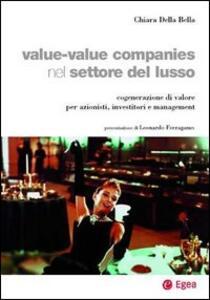 Value-value companies nel settore del lusso. Cogenerazione di valore per azionisti, investitori e management