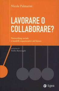 Lavorare o collaborare? Networking sociale e modelli organizzativi de l futuro - Nicola Palmarini - copertina