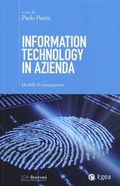 Information technology in azienda. Modelli di management