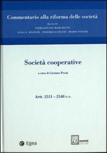 Libro Società cooperative. Artt. 2511-2548
