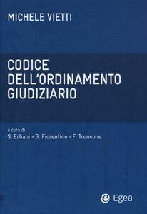 Libro Codice dell'ordinamento giudiziario Michele Vietti