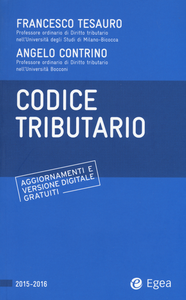 Libro Codice tributario Francesco Tesauro , Angelo Contrino