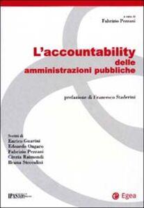 Foto Cover di L' accountability delle amministrazioni pubbliche, Libro di  edito da EGEA