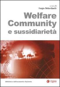 Welfare community e sussidiarietà
