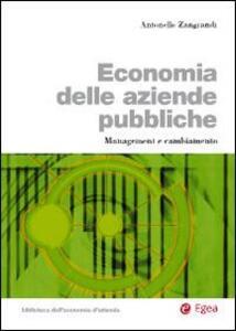 Economia delle aziende pubbliche. Management e cambiamento