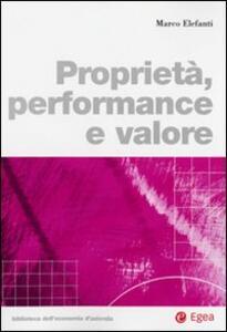 Proprietà, performance e valore