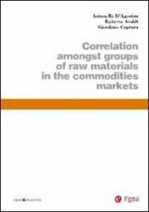 Correlation amongst groups of raw materials in the commodities markets