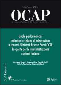 OCAP. Osservatorio sul cambiamento delle amministrazioni pubbliche (2012). Vol. 2