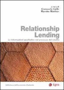 Relationship lending. Le informazioni qualitative nel processo del credito