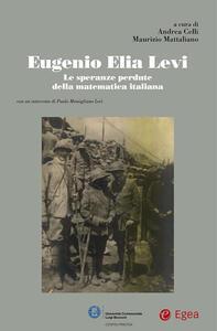 Eugenio Elia Levi. Le speranze perdute della matematica italiana