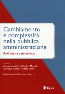 Mercatinidinataletorino.it Cambiamento e complessità nella pubblica amministrazione. Ruoli, risorse e trasparenza Image