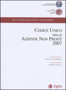 Libro Codice unico delle aziende non profit 2007