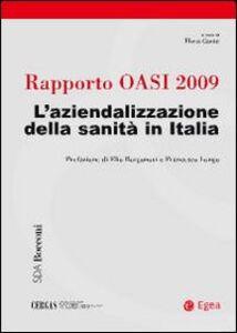 Libro Rapporto Oasi 2009. L'aziendalizzazione della sanità in Italia
