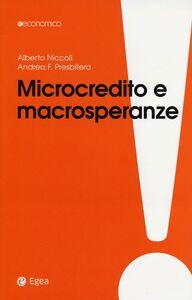 Libro Microcredito e macrosperanze Alberto Niccoli , Andrea F. Presbitero