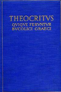 Foto Cover di Quique feruntur bucolici graeci, Libro di Teocrito, edito da Ist. Poligrafico dello Stato
