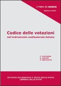 Codice delle votazioni nell'ordinamento costituzionale italiano