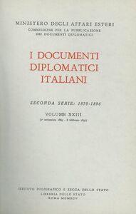 Foto Cover di I documenti diplomatici italiani. Serie 2ª (1870-1896). Vol. 23: 1º settembre 1889-8 febbraio 1891., Libro di  edito da Ist. Poligrafico dello Stato