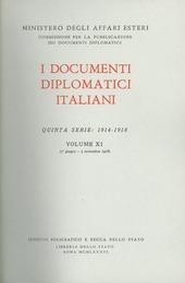 I documenti diplomatici italiani. Serie 5ª (1914-1918). Vol. 11: 1° giugno-3 novembre 1918.
