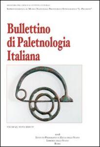 Foto Cover di Bullettino di paletnologia italiana, Libro di  edito da Ist. Poligrafico dello Stato