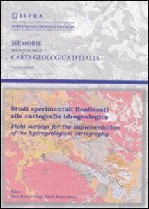 Studi sperimentali finalizzati alla cartografia idrogeologica