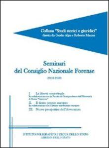 Libro Seminari del consiglio nazionale forense
