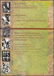 Ricerche micro paleontologiche e biostratigrafiche sul mesozoico della piattaforma laziale-abruzzese (Italia centrale)
