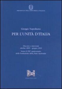 Per l'unità d'Italia