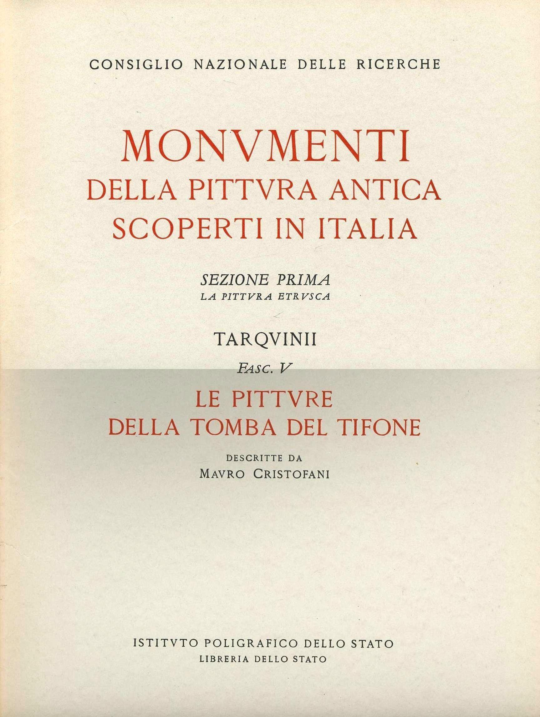 Monumenti della pittura antica scoperti in Italia. Programma dell'opera