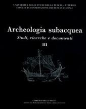 Archeologia subacquea. Studi, ricerche e documenti. Vol. 3