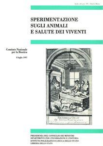 Libro Sperimentazione sugli animali e salute dei viventi
