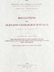 Libro Primi programmi per la carta geologica d'Italia. Verbali delle adunanze del Regio comitato geologico d'Italia negli anni 1868-1877 Sergio Sperandio , Silvana Zanfrà