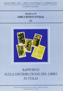 Libro Rapporto sulla distribuzione del libro in Italia