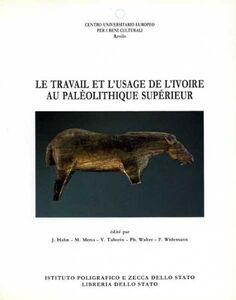Libro Le travail et l'usage de l'ivoire au paléolitique supérieur