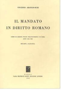 Il mandato in diritto romano