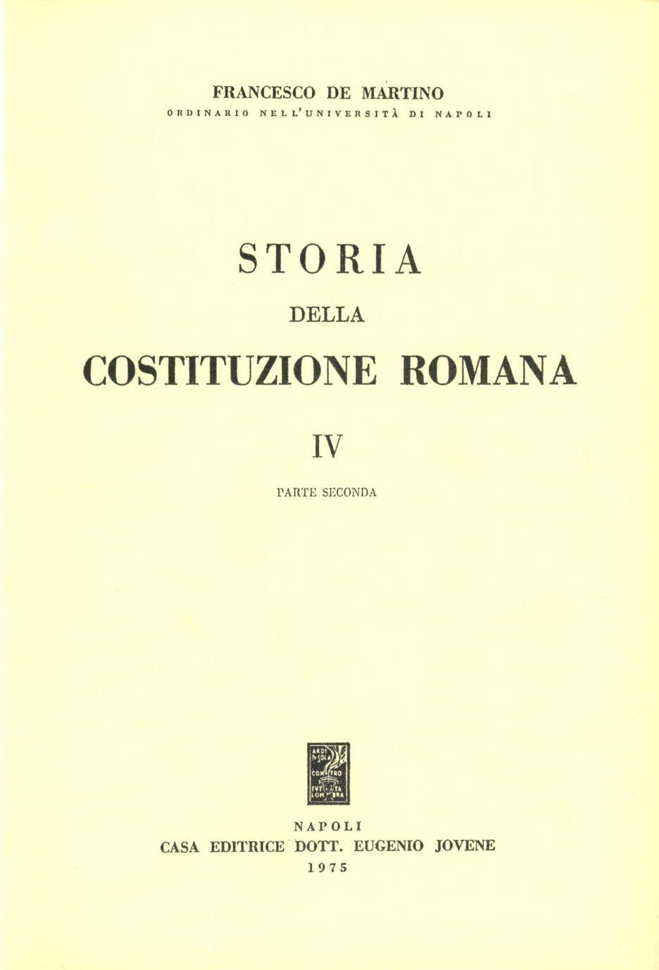 Storia della costituzione romana. Vol. 4\2