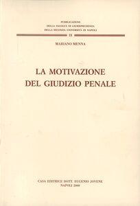 Libro La motivazione del giudizio penale Mariano Menna