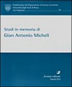 Libro Studi in memoria di Gian Antonio Micheli