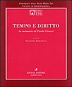 Libro Tempo e diritto. In memoria di Paolo Vitucci