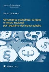 Governance economica europea e misure nazionali per l'equilibrio dei bilanci pubblici