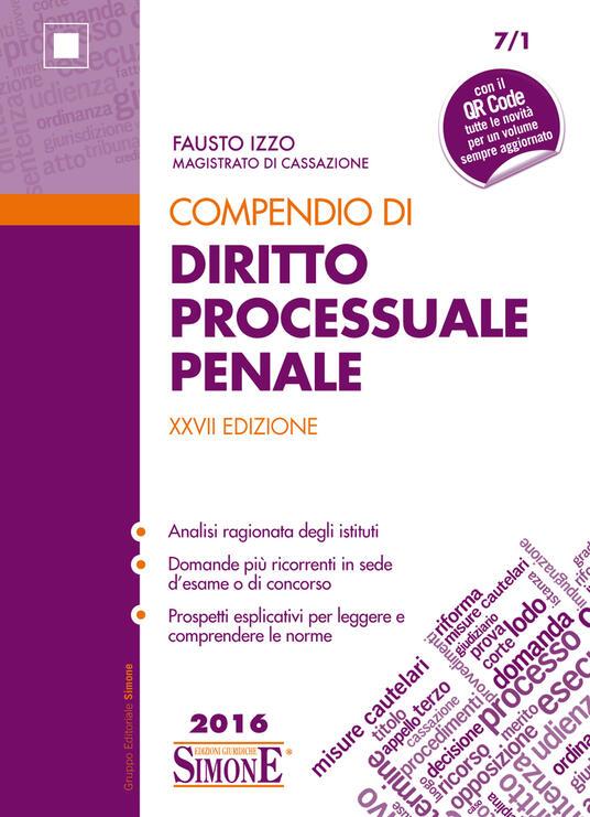 Compendio di Diritto Processuale Penale - Fausto Izzo - ebook
