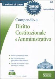 Foto Cover di Compendio di diritto costituzionale e amministrativo, Libro di Federico Del Giudice, edito da Edizioni Giuridiche Simone