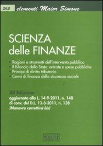 Foto Cover di Scienza delle finanze, Libro di  edito da Edizioni Giuridiche Simone