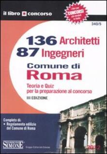 Promoartpalermo.it 136 architetti e 87 ingegneri. Comune di Roma. Teoria e quiz per la preparazione al concorso Image