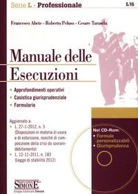 Manuale delle esecuzioni. Con CD-ROM - Abete Francesco Peluso Roberto Cesare Taraschi - wuz.it