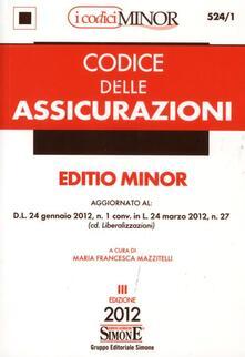Secchiarapita.it Codice delle assicurazioni. Ediz. minore Image