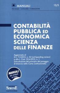 Contabilità pubblica ed economica scienza delle finanze
