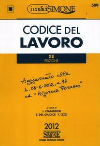 Libro Codice del lavoro