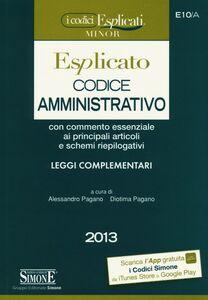 Libro Codice amministrativo esplicato. Ediz. minor